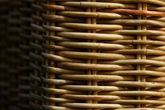 Wicker wood furniture closeup. Hadnmade chair Royalty Free Stock Photography