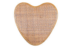 Wicker wood weave in heart shape pattern background Royalty Free Stock Photography