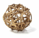 Wicker Wooden Ball Royalty Free Stock Images