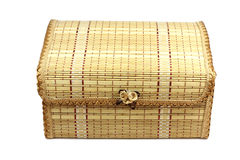 Wicker wooden box Royalty Free Stock Photo