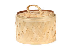 Wicker wooden box Royalty Free Stock Image