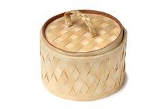 Wicker wooden box Royalty Free Stock Photo