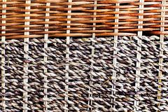 Wicker wooden cloth of brown color, royalty free stock image