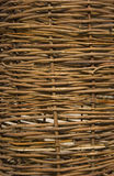 Wicker wooden fence. Image of a wicker wooden fence royalty free stock photos