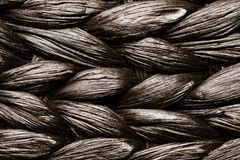 Wicker woven pattern background Stock Photo