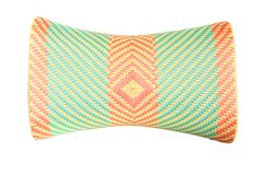 Wicker woven pillow isolated Stock Photos