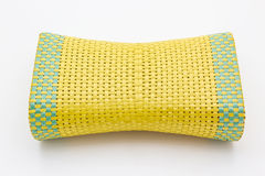 Wicker woven pillow Stock Image