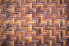 Wicker woven rattan pattern Royalty Free Stock Photos