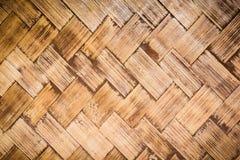 Wicker woven rattan pattern Stock Photos