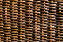 Wicker woven texture background of chair Royalty Free Stock Images