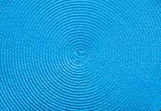 Wickered blue mat kitchen mat texture Royalty Free Stock Photography