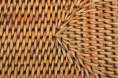 Wickered rattan background Stock Images