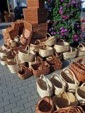 Wickers. Various shape wickers in street market, Lithuania Royalty Free Stock Photos