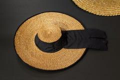 Wickerwork αποκαλούμενο καπέλο sancosmeiro φιαγμένο από άχυρο στοκ εικόνες
