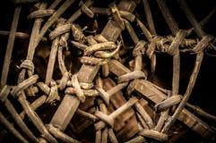 Wickerwork των χωρικών στην Ταϊλάνδη στοκ φωτογραφίες
