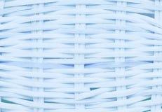 Wickerwork błękitna koszykowa tekstura Zdjęcia Stock