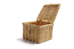 Wickerwork Basket Stock Photography