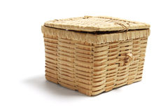 Wickerwork Basket Royalty Free Stock Image