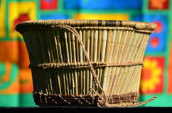 Wickerwork - basket of reeds Stock Images