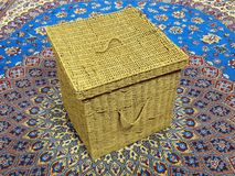 Wickerwork box Stock Image