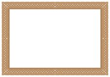 Outline continuous frame & border in gold composition Stock Photos
