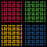 Wickerwork seamless pattern Royalty Free Stock Image