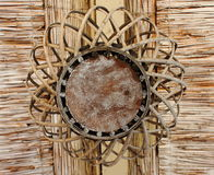 Wickerwork of straw Stock Photo