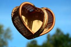 Wickerwork - Valentine Basket Stock Photography