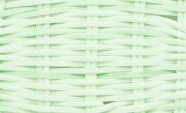 Wickerwork zielona koszykowa tekstura Fotografia Stock