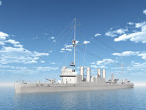 Wickes-Class Destroyer. Computer generated 3D illustration with a Wickes-Class Destroyer of the Allied from the second world war Stock Image