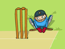 Wicket keeper for Cricket sports concept. Stock Photo