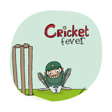Wicket keeper for Cricket sports concept. Royalty Free Stock Photography