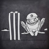 Wicket keeper for Cricket sports concept. Stock Photos