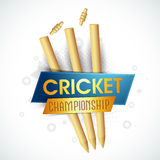 Wicket Stumps for Cricket Championship concept. Royalty Free Stock Photos