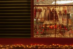 Christmas seasonal window display royalty free stock photos