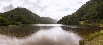 Wicklow湖全景 免版税图库摄影