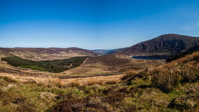 Wicklow Gap. Hilly landscape in the Wicklow Gap, the Wicklow Mountains, County Wicklow, Ireland Stock Photo
