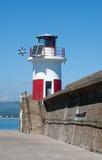 Wicklow lighthouse East Coast, Ireland Stock Photo