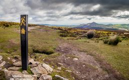 Wicklow Way. View from the Wicklow Way (Slí Cualann Nua) trail at the Wicklow Mountains in Ireland Stock Photography