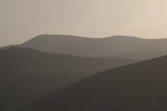 Wicklow wzgórza przy półmrokiem Zdjęcia Stock