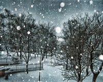 Wicklung Snowscene stockfotografie