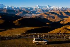Wicklung-Straßen nach Himalaja Lizenzfreie Stockbilder