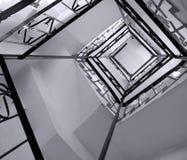 Wicklung-Treppen Stockfoto