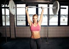 ćwiczenia sprawności fizycznej prasy ramię Fotografia Stock