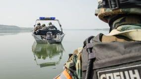 Ćwiczenia wojskowe w Rosja Fotografia Royalty Free