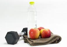 Ćwiczenie i woda pitna Fotografia Stock