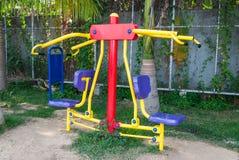 Ćwiczenie maszyny park publicznie Zdjęcia Royalty Free