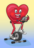Ćwiczenie rower Fotografia Royalty Free