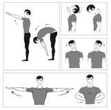 ćwiczy fizycznego set ilustracja wektor
