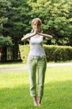 ćwiczy plenerowego Zdjęcia Stock